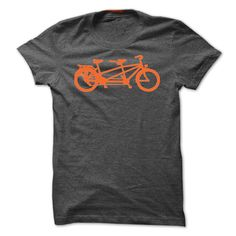 Tandem Touring #Bike. Orange on Grey., Order HERE ==> https://www.sunfrogshirts.com/LifeStyle/Tandem-Touring-Bike-Orange-on-Grey.html?89701, Please tag & share with your friends who would love it , #superbowl #birthdaygifts #renegadelife
