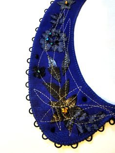 leather, embroidery, lace and crystals by adrianadelfino.com