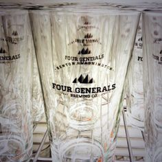 Four Generals Brewing Co. Brewing Co, Pint Glass, Beer Glassware