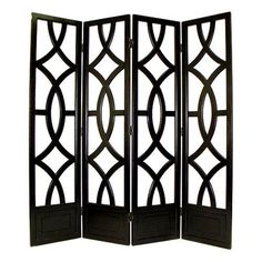 Intersecting Circles Four-Panel Room Divider | from hayneedle.com
