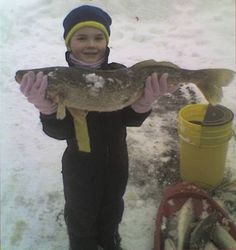 Ice fishing on Lake Erie at Put-in-Bay, Ohio