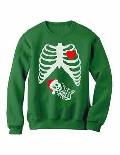 Christmas Pregnant Skeleton Xray Green Medium Sweatshirt [Apparel] Green-Turtle T-Shirts,http://www.amazon.com/dp/B00GWIXV8M/ref=cm_sw_r_pi_dp_L2ZRsb138F1SF063