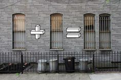 New York-based artist, Aakash Nihalani, has fun interactive programs on his website (We suggest you spend some time there), sticking to simple and efficient designs. One of the artist's newest projects incorporates window of buildings with simple arithmetic problems, pretty clever.