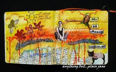 Anything but...Plain Jane: Weekend art journal and a Viking girl :)