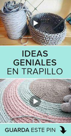 ¿Buscas ideas de manualidades con trapillo? Entonces este tutorial es perfecto para ti. Te daremos varias ideas que de seguro te encantarán. ¡Aprender trapillo nunca fue tan fácil y divertido como ahora! 😊  #costura #DIY #sewing #sewingtutorials #courses #cursos #patrones #patterns #manualidades #trapillo Crochet Granny, Diy Crochet, Crochet Stitches, Crochet Hats, Embroidery Kits, Ribbon Embroidery, Costura Diy, Baby Deco, Crochet Basket Pattern