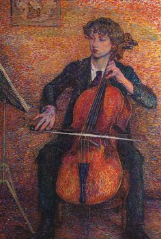 Young Man Playing a Cello, ca 1910, Jo Koster. Dutch (1869 - 1944)