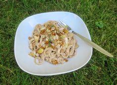 Spargel-Artischocken-Walnuss-Pesto (zu Spaghetti)