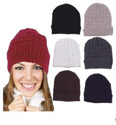 Solid-Crochet-Cuffed-Beanie-Hats-Modern-design-One-size-hottest-trends-in-fashio