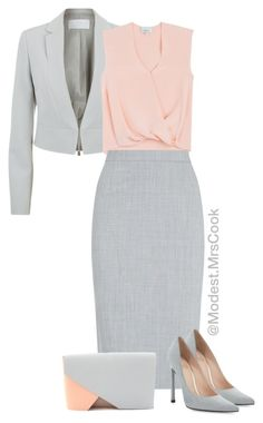 Peaches &a Grey by thestylishmom on Polyvore featuring polyvore, fashion, style, 3.1 Phillip Lim, BOSS Hugo Boss, Jaeger, Stuart Weitzman, Urban Travel and clothing
