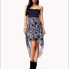 Deep Purple High - Low Dress