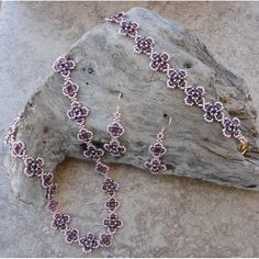 Countess Necklace, Bracelet, Ring and Earring Set Pattern - Bead Patterns by Michelle Skobel