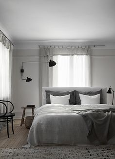 bed in front of a window is an option...