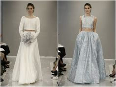 Bridal Trend: Wedding Separates Part Two Get inspired for your wedding with designs from Theia White featuring the must have bridal trend crop tops.  http://www.pierrecarr.com/blog/2014/11/bridal-trend-2015-wedding-separates-part-two/ #Theia #weddingseparates #bridalcroptops