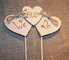 We Still Do Triple Heart Cake Topper Renewal of Vows Renew Marriage Vows by Melysweddings on Etsy Anniversary Banner, 20 Wedding Anniversary, 10 Year Anniversary, Anniversary Parties, Anniversary Pictures, Vow Renewal Ceremony, Wedding Renewal Vows, Renewal Of Vows Ideas, Rustic Cake Toppers
