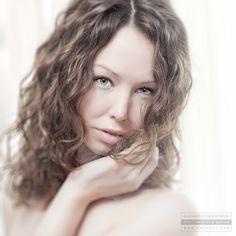 Katrin, high key portrait