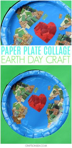This cute Earth Day craft for kids can be adapted for toddlers, preschoolers or older kids and is the perfect way to practice scissor skills and fine motor skills. Love our planet with this easy idea to inspire kids! #earthday #kidscrafts #kidsactivities #papercraft