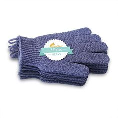 EvridWear Exfoliating Dual Texture Bath Gloves for Shower, Spa, Massage and Body Scrubs, Dead Skin Cell Remover, Gloves with hanging Pairs Heavy Gloves) Exfoliating Gloves, Body Shower, Some Body, Spa Massage, Dead Skin, Body Wash, Your Skin, Pairs, Texture