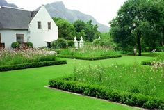 Sitting on the stone stoep at Stellenberg, eating smoked salmon sandwiches and marvelling at the perfection of boxwood