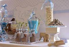 Resultado de imagen para communion decorations vintage boy brown blue