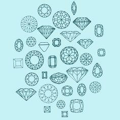 how to draw polyhedra gems - Google Search