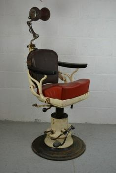 Vintage Dentist   Tatooist chair   445 http www ebay Barber Chair with Leather Seat Cushions Cast Iron Base Hand Made  . Ebay Barber Chairs Used. Home Design Ideas