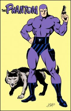 Phantom An American adventure comic strip created by Lee Falk, also creator of Mandrake the Magician. I searched for this on /images Comics Und Cartoons, Bd Comics, Marvel Dc Comics, Cartoon Cartoon, Cartoon Images, Pulp Fiction, Comic Book Heroes, Comic Books Art, Comic Art