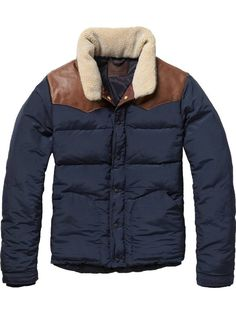 Jacket with trendy collar -Scotch & Soda