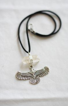 For Clarity and Power, Clear Quartz and the Regal Eagle Necklace. by SacredBodiesDesigns on Etsy