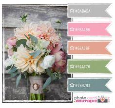 Very soft and pretty-would make a great wedding color palette! Colour Pallette, Colour Schemes, Color Combos, Theme Color, Design Seeds, Color Stories, House Colors, Photo Cards, Color Inspiration