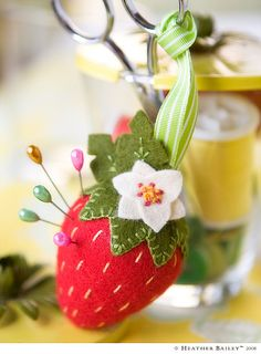 sweet strawberry pincushion