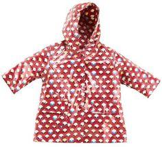 Pluie Pluie Fleece Lined Raincoats (zipper closure, coated cotton w/o PVC) - Lollipop Drop (available at Clover in Ballard)