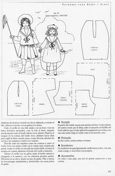 Doll Clothes patterns Middy top/dress