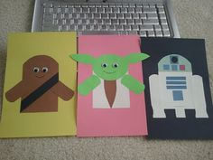 Star Wars paper craft for kids (template idea: pre-cut all pieces and have kids put together). Boys would LOVE.