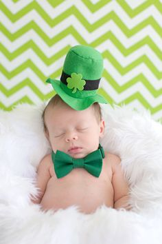 Happy St. Patrick's Day New born photography Crystal Lee Photography Myrtle Beach SC