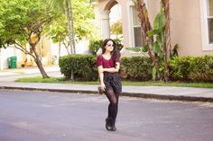 Chic by V: Burgundy Tee and Combat Boots