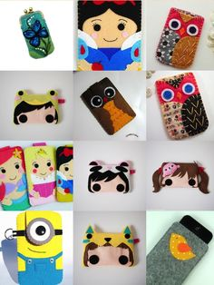 Felt Phone Cases...no tutorial for this one but at least I have an idea how to make em.