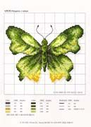 Schematic cross stitch Green Butterfly