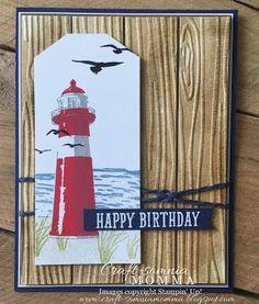 Craft-somnia Momma: Stampin' Up! Masculine Birthday Cards, Birthday Cards For Men, Masculine Cards, Male Birthday, High Tide Stampin Up, Nautical Cards, Beach Cards, Boy Cards, Stamping Up Cards
