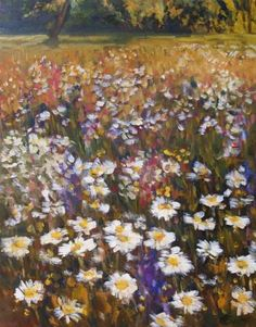 "Saatchi Art Artist Ellen Fasthuber-huemer; Painting, ""Blumenwiese"" #art Saatchi Art, Original Paintings, Artist, Flowers, Ideas, Pictures, Artists, Royal Icing Flowers, Thoughts"