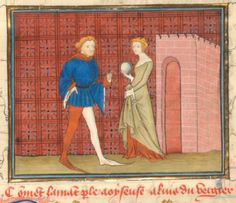 Roman de la Rose @RoseDigLib  ·  4 июня The Lover is greeted by Idleness at the gate of the Garden of Delight in @ActuBnF fr 380