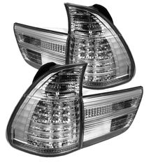 Chrome/Clear LED Taillights for BMW X5 2000, 2001, 2002, 2003, 2004, 2005, 2006