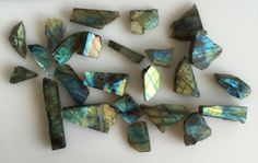 478CT NATURAL LABRADORITE ROUGH SLICE GEMS FLASHY LOOSE LOT RAW MINERAL SPECIMEN…