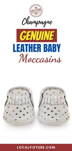 Champagne Genuine Leather Baby Moccasins