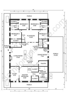 The Absolute Best 5 Bedroom Barndominium Floor Plans Pole Barn House Plans, Pole Barn Homes, New House Plans, Dream House Plans, House Floor Plans, Garage Plans, Design Floor Plans, Barn Homes Floor Plans, Floor Plan Layout