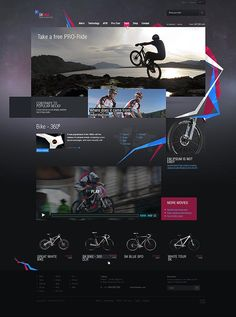 SKbike – Great Web Design by East2go - Dark but great, plus that polygon tape means me likes