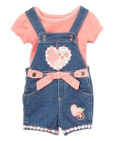 Loving this Pink Heart Tee & Shortalls - Infant on #zulily! #zulilyfinds