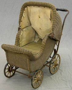 c. 1910 Wicker Baby Carriage