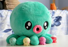 Octopus Plushie - I love octopussessesss long crazy legs.  However this plushie is pretty darned cute and will go on my sewing list