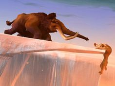 Flashback Friday!  We were on the edge of our seats when Manny saved Diego in the first Ice Age movie.