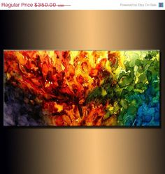 Original Abstract painting Contemporary by newwaveartgallery, $315.00